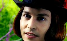 JOHNNY DEPP   .      as   Willy Wonka